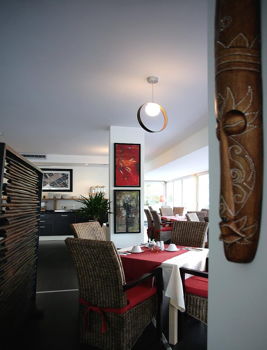 Vista della sala ristorante a Lignano Pineta