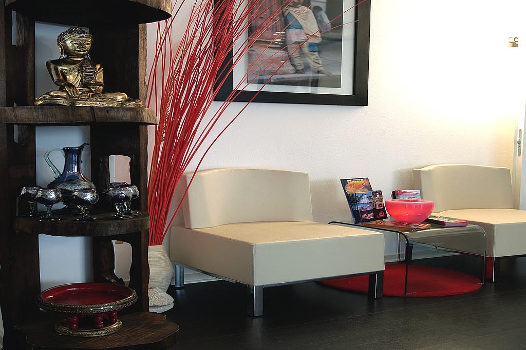 Relax-Bereich mit sofas